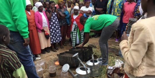 Conservation Farming demonstration of soil